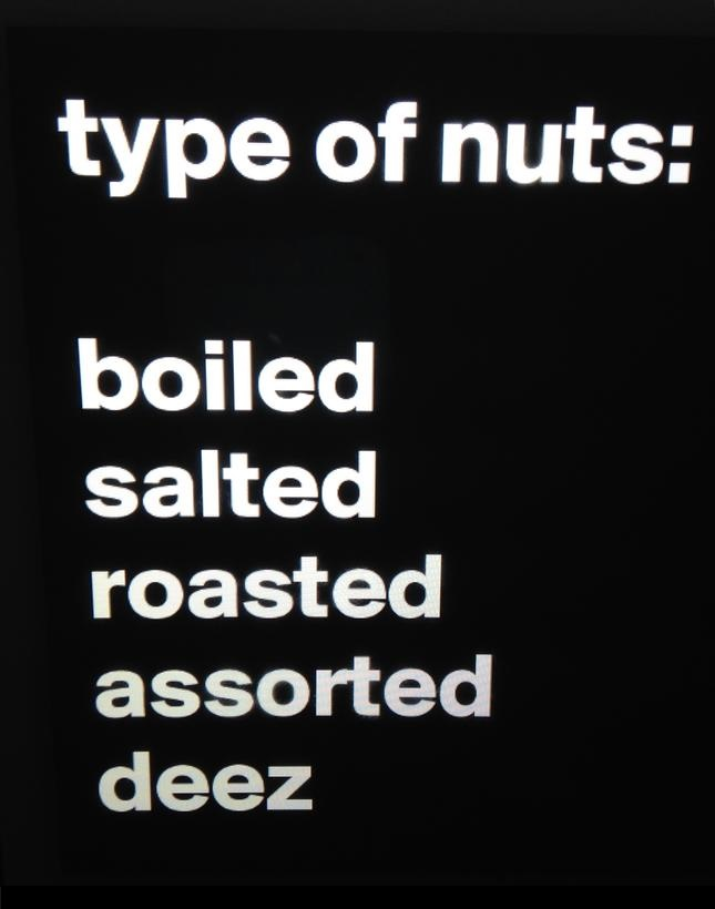 types of nuts deez nuts